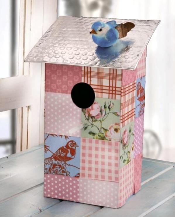vogelhaus basteln und dekorieren basteln bastelideen. Black Bedroom Furniture Sets. Home Design Ideas