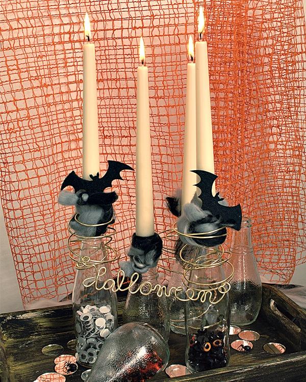Halloween tischdekoration selber basteln basteln - Tischdekoration halloween ...